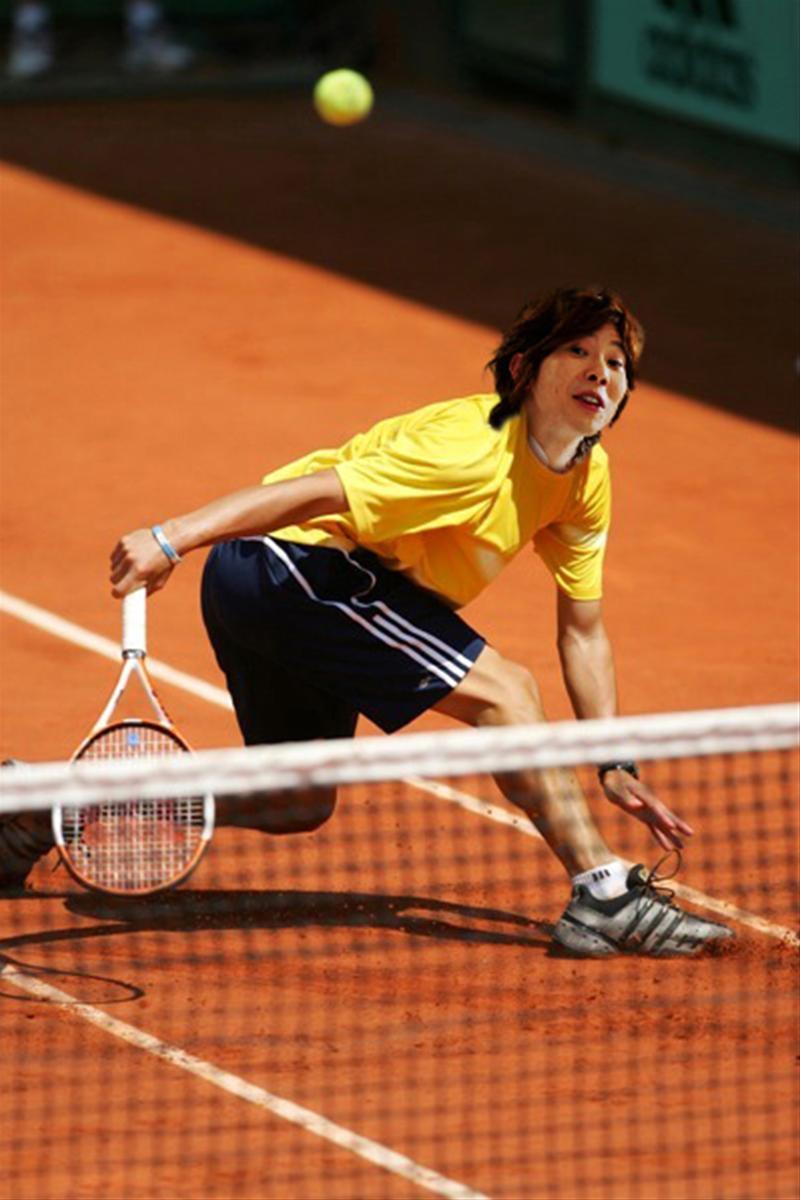 川越シェフ、テニス界に進出の面白画像