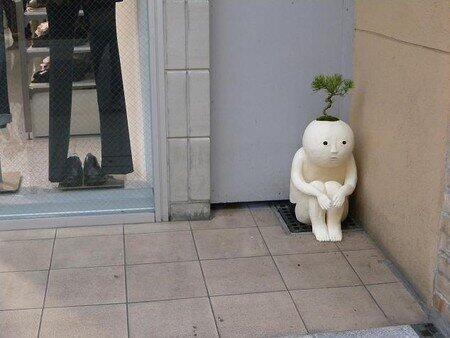 不気味な植木鉢の面白画像