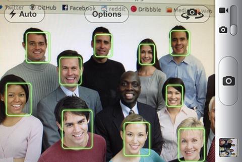 カメラ顔認証の面白画像