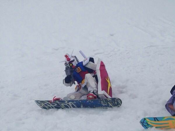 スキーガンダムの狙撃の面白画像