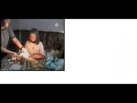 動画で面白画像!【爆笑】もったいない!?…『ケーキでハプニング』の面白GIF画像の面白画像